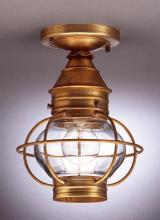 Northeast Lantern 2514-AB-MED-CLR - Caged Onion Flush Antique Brass Medium Base Socket Clear Glass