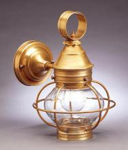 Northeast Lantern 2515-AB-MED-CLR-NS - Caged Onion Wall  Antique Brass Medium Base Socket Clear Glass No Scroll