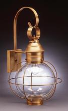 Northeast Lantern 2841-AB-MED-CLR - Caged Round Wall Antique Brass Medium Base Socket Clear Glass