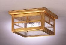 Northeast Lantern 4304-DAB-MED-CLR - Flush Dark Antique Brass Medium Base Socket Clear Glass