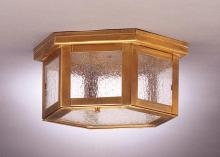 Northeast Lantern 4504-RB-MED-CLR - Flush Raw Brass Medium Base Socket Clear Glass