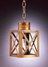 Northeast Lantern 5012-DAB-MED-CLR - Can Top X-Bars Hanging Dark Antique Brass Medium Base Socket Clear Glass