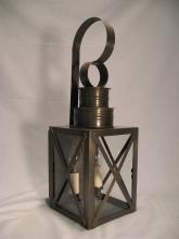 Northeast Lantern 5031-AB-MED-CLR - Can Top X-Bars Wall Antique Brass Medium Base Socket Clear Glass