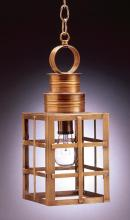 Northeast Lantern 5132-AB-MED-CLR - Can Top H-Bars Hanging Antique Brass Medium Base Socket Clear Glass