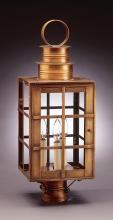 Northeast Lantern 5153-AB-CIM-CLR - Can Top H-Bars Post Antique Brass Medium Base Socket With Chimney Clear Glass