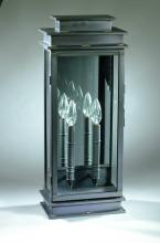 Northeast Lantern 8851-VG-LT2-CLR - Wall Verdi Gris 2 Candelabra Sockets Clear Glass