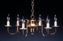 Northeast Lantern 900-DB-LT6 - Hanging S-Arms Dark Brass 6 Candelabra Sockets