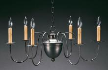 "Northeast Lantern 913-DB-LT6 - Hanging 5"" Half Ball S-Arms Dark Brass 6 Candelabra Sockets"