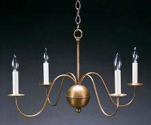 Northeast Lantern 949-DB-LT4 - Hanging S-Arms Dark Brass 4 Candelabra Sockets