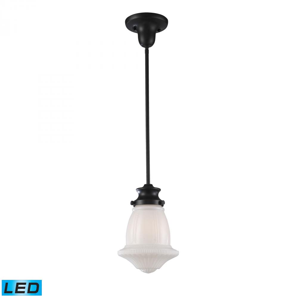 Greenvale Electric Supply in Greenvale, New York, United States, ELK Lighting NCKV, Schoolhouse Pendants 1 Light LED Pendant In Oile, Schoolhouse Pendants