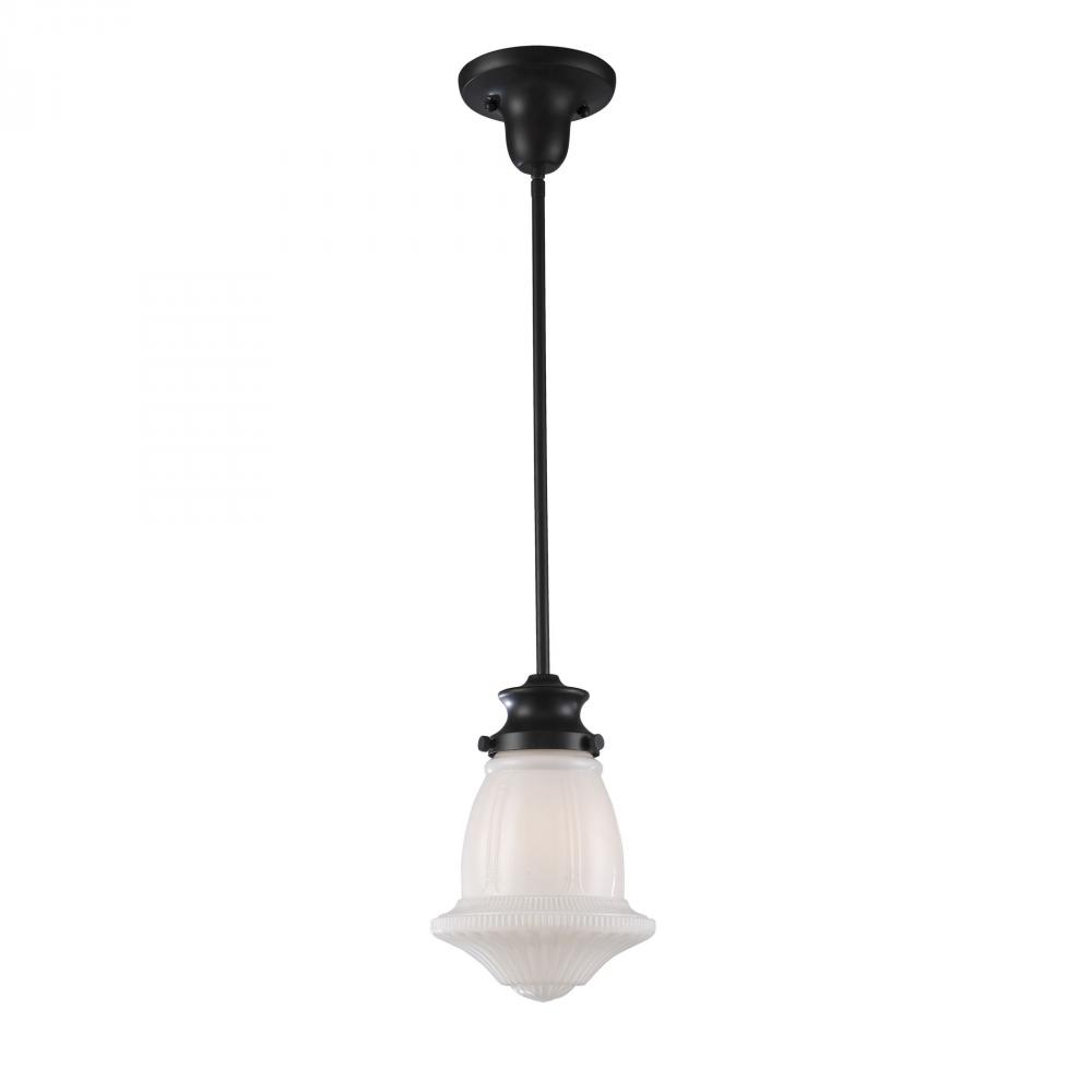 Greenvale Electric Supply in Greenvale, New York, United States, ELK Lighting NCKU, Schoolhouse Pendants 1 Light Pendant In Oiled Br, Schoolhouse Pendants