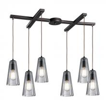 ELK Lighting 60048-6 - Six Light Oiled Bronze Multi Light Pendant
