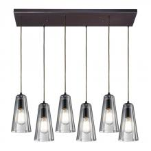 ELK Lighting 60048-6rc - Six Light Oiled Bronze Multi Light Pendant