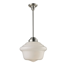 ELK Lighting 69040-1 - Schoolhouse Pendants 1 Light Pendant In Satin Ni
