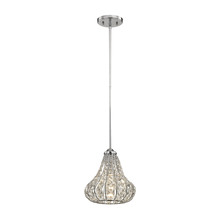 ELK Lighting 81135/1-LA - Romina 1 Light Pendant In Polished Chrome With C