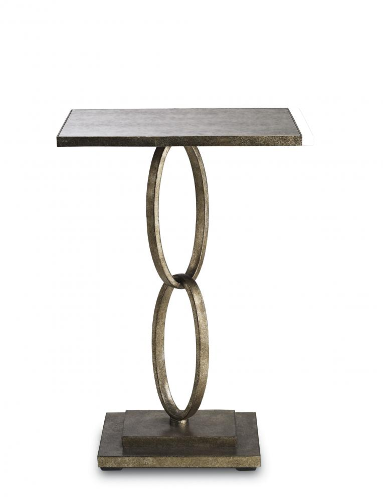 Greenvale Electric Supply in Greenvale, New York, United States, Currey 8X8H, Bangle Accent Table, Silver Leaf, Bangle