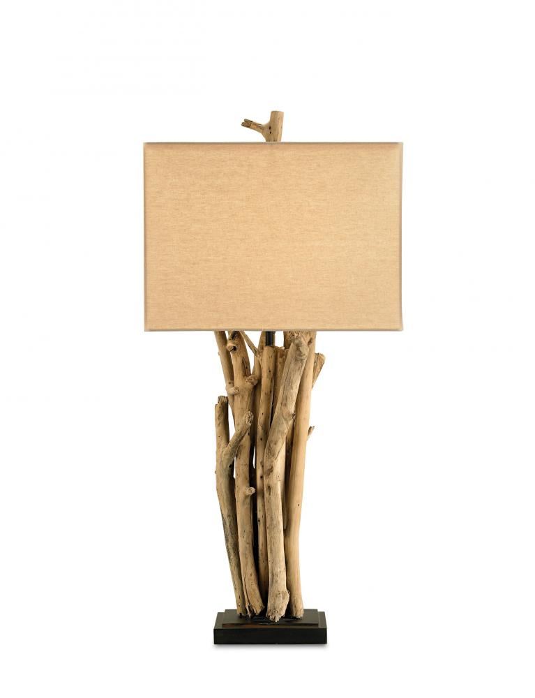 Greenvale Electric Supply in Greenvale, New York, United States, Currey 5XHP, Driftwood Table Lamp, Driftwood